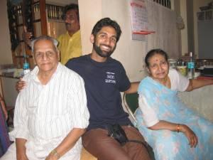 Suresh Fua, Manju foi and me.