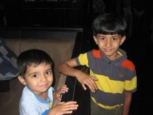 Ahan and Saahil.